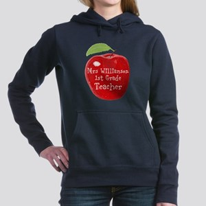 Personalised Teacher Apple Painting Women's Hooded